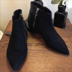 NWT K. Spin Made in Italy Black Suede & Leather